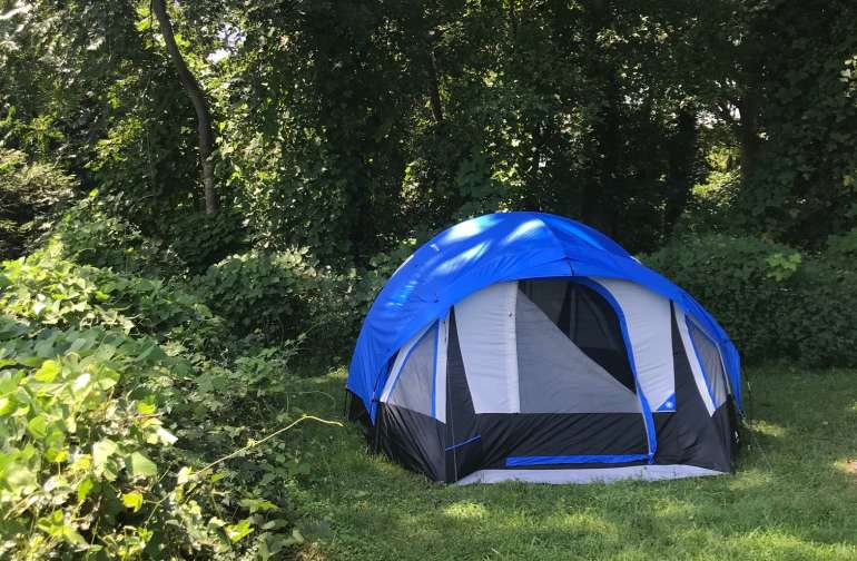 "Our Glamping ""Tiger"" Tent is a huge two room tent!"