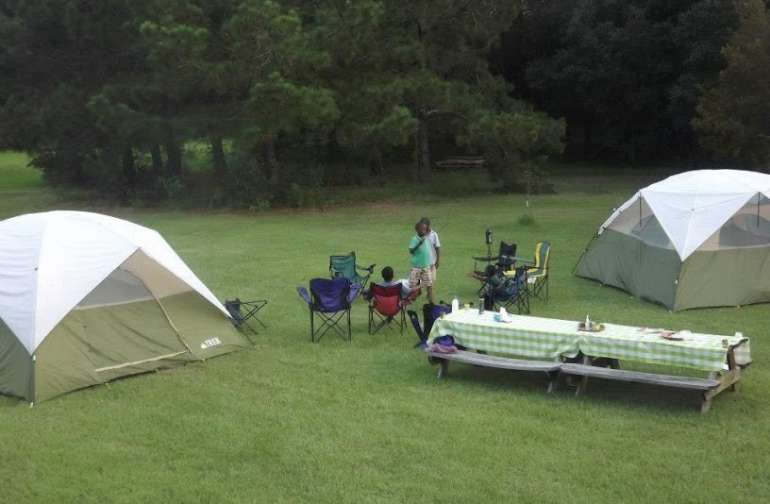 We hosted a camping weekend for kids in our community.