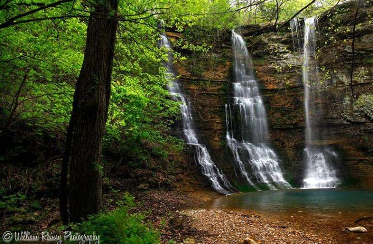 One of over a dozen waterfalls that you can drive to. Listen to the calming flow of water as you camp nearby.