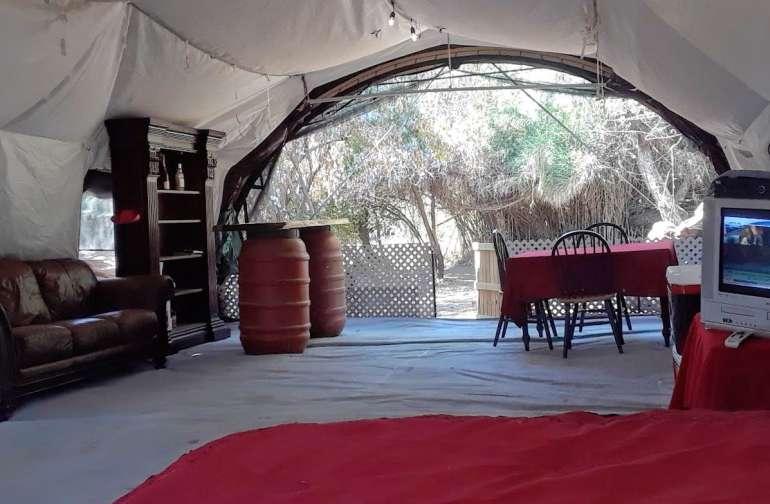 Hi-Tech Quonset Hut Luxury Camping