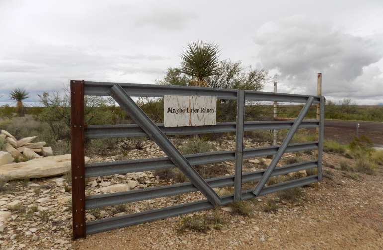 Private gate to property on highway 118.