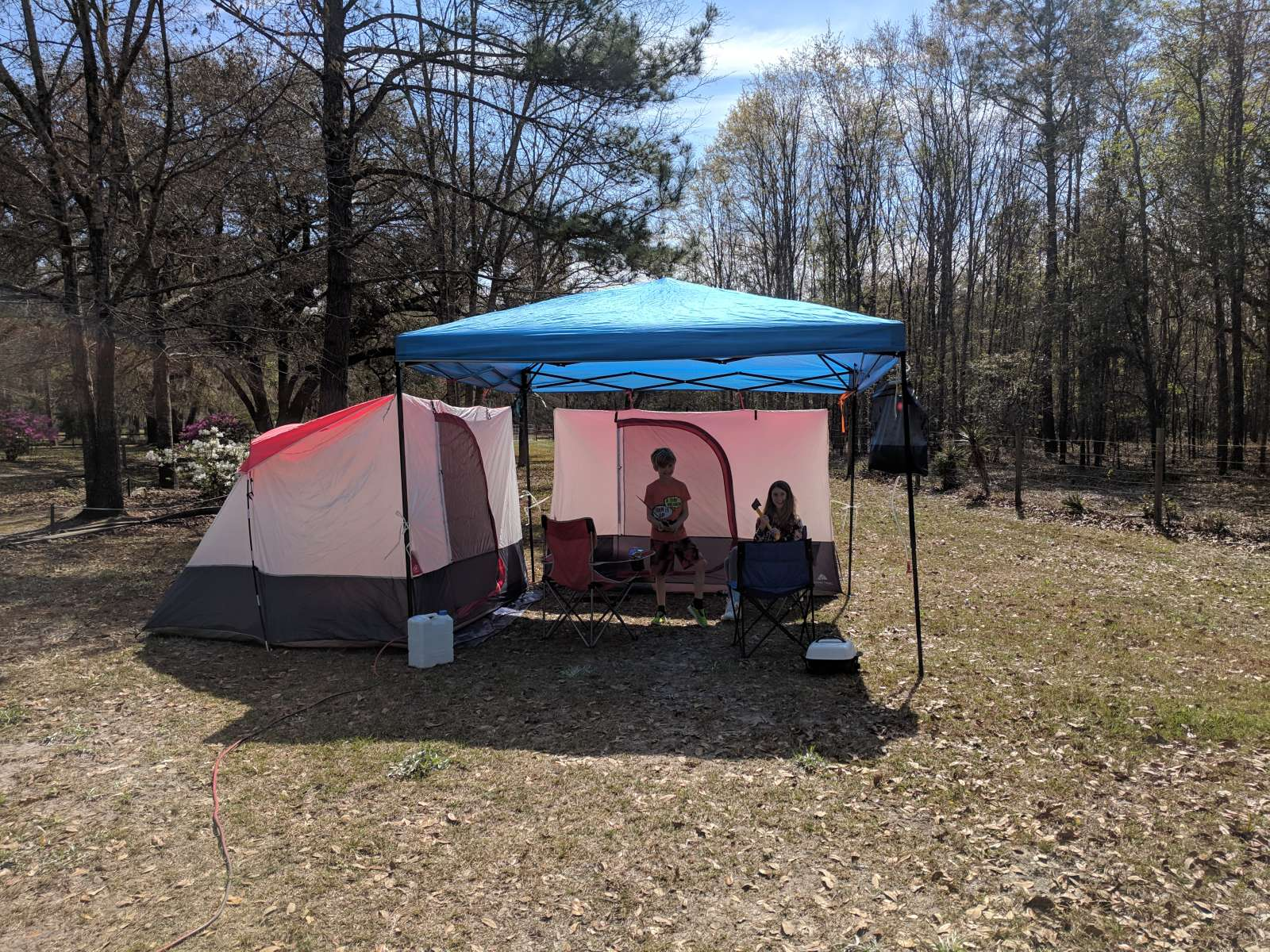 Full hookup tent camping